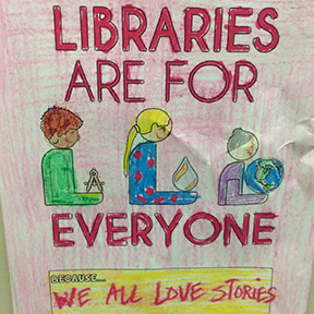 Friends agree:  Libraries are for everyone!
