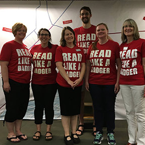"Staff promotes ""reading like a Badger"""