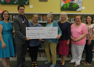 Friends thank all who voted in 2017 Old National Bank contest:  Pinney won $1000!